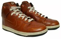 Nike SB Dunk High Premium Brown Leather High Top Sneakers Mens Sz 8 Womens Sz 9