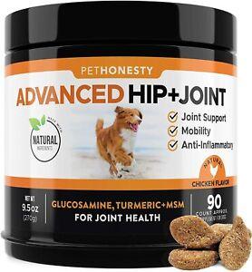 PETHONESTY USA Dog Advanced Hip+Joint Glucosamine 90 Chews Chicken flavor -04/22