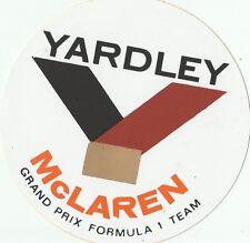 Yardley McLaren GRAND PRIX f1 TEAM ORIGINALE periodo Sticker Adesivo autocollant
