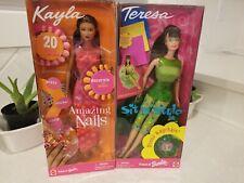 NIB 1999 Sit In Style Teresa Barbie Doll # 23423 & Amazing Nails Kayla