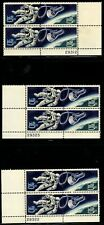 Accomplishments in Space - Scott #1331-1332 set of 3 different Plate Blocks  MNH