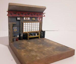 Handmade 1/64th, S, Sn3 Scale, Workshop, Garage, Die cast Auto