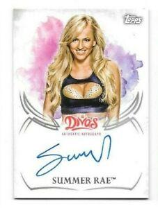 Summer Rae 2015 Topps WWE Undisputed Divas AUTO