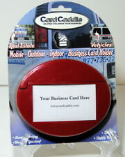 New listing Business Card Holder Red Card Caddie Outdoor Indoor Increase Your Sales New