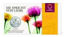 10 Euros Argent Ag 925 Autriche 2021 - Roses