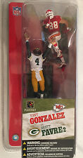 "Brett Favre Tony Gonzalez 3"" Action Figure Set 2004 NFL Packers Chiefs"