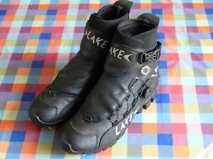Lake MXZ303 leather SPD (2-bolt) winter MTB cycling boots shoes EU44 UK9 Black