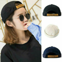Adjustable Docker Sailor Cap Mechanic Skullcap Beanie Biker Brimless Hat Unisex~