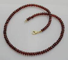 Granat Kette rot - facettierte Almandin-Granat Halskette für Damen 190 Karat