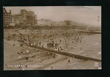 Sussex BRIGHTON Busy Beach Scene c1900/10s? RP PPC