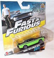 Fast & Furios Cars 1-55 scale F8- 7- 6 -5 New in Pack Pick from Drop down Menu