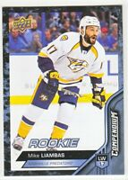 2016-17 Upper Deck Compendium Series 3 BLUE ROOKIE RC Mike Liambas  #888