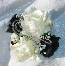 Wrist Corsage Prom Wedding Quinceanera Easter Artificial Roses Silk Flowers Faux