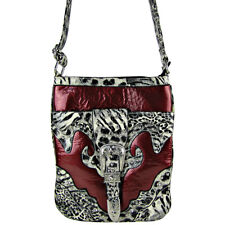 RED LEOPARD PRINT BUCKLE MESSENGER BAG SATCHEL CROSS BODY WESTERN MONTANA WEST