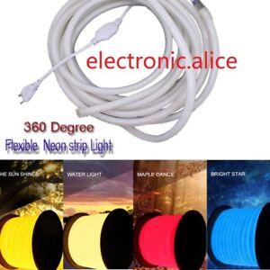 360 Degree Glow Flexible LED Neon Light 220V 120leds/m indoor outdoor Lighting