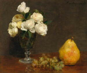 Henri Fantin Latour Still Life with Roses and Fruit Giclee Paper Print Poster