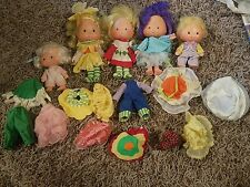 VINTAGE 1979 Lot of Strawberry Shortcake Dolls, and Clothes