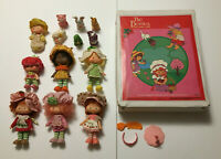 Lot of 7 Vintage Strawberry Shortcake Dolls Figures w/ Pets & Carrying Case