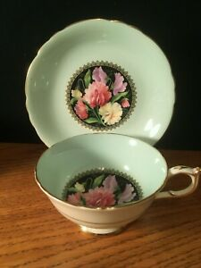 PARAGON Tea Cup & Saucer BY APPOINTMENT Bone China BLUE & FLORALS coffee