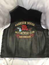 Classic Leather Gear Motorcycle Vest L First Classics Harrison Moose Michigan MC