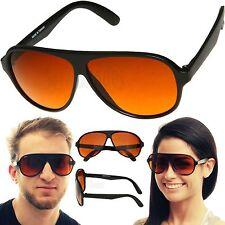 Driving Aviator BLUE BLOCKER Sunglasses with Amber Lens