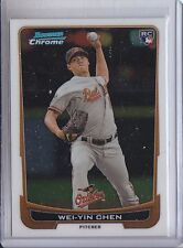 WEI-YIN CHEN 2012 BOWMAN CHROME DRAFT