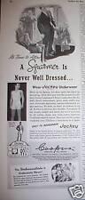1940 Men's Jockey Underwear Squirmer Never Dressed Ad