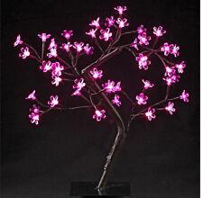 Arbre lumineux à fleurs 48 led  Lumière   Rose   Sapin de noël  Décoration 45 cm