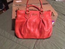 Coach Ash Lth Mini  Crossbody In Orange NWOT