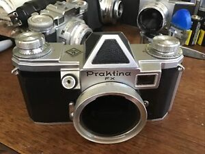 Praktina FX 35mm Camera Body Looks Nice Works But As Is..