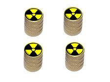 Radioactive Yellow on Black Tire Rim Wheel Valve Stem Caps - Colors