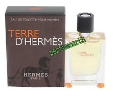 Terre D'Hermes By Hermes 0.42oz./12.5ml Edt Mini Spray For Men New In Box