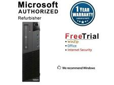 Refurbished Lenovo ThinkCentre M83 Slim/Small form factor Pentium G3420 3.20 GHz