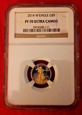 2014 W NGC PR 70 1/10 oz Proof Gold American Eagle Coin $5 Ultra Cameo PR70 coin