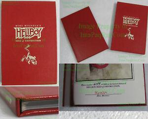 VHTF Hellboy Seed of Destruction Signed Numbered Limited Hardcover HC Slipcase