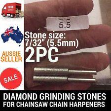 2 X 7/32 DIAMOND GRINDING STONES FOR CHAINSAW CHAIN SHARPENER OREGON STIHL ETC
