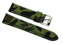 Cinturino per olorogio mimetico tessuto cordura 20mm semi imbottito militare