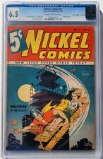 "Nickel Comics #5 Bondage Cover (""D"" Copy) pedigree (Fawcett, 1940) CGC FN+ 6.5"