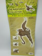 Home Decor Monkey Stencil Rainforest Leslie Powers Ease Laser Cut Jungle 18""