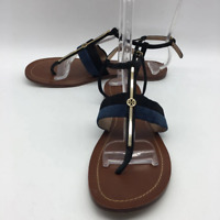 Tory Burch Navy Leather Sandal 9