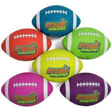 Set of 6 Regulation Size Neon Colors Footballs with Air Pump, Mesh Bag