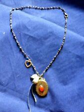 Charming Vintage Locket and Charm Pendant Necklace