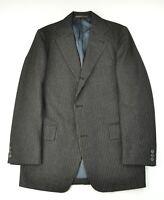 J. Press Jpress Vintage Charcoal Gold Pinstripe Flannel 3 Button Sack Suit Trad
