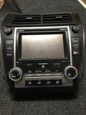 2014 Toyota Camry Radio Display Gps Bluetooth Nav With A/C Unit And a/c Vents