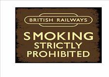 Railway Station Sign Reproduction British Rail No Smoking Sign Vintage Rail Sign