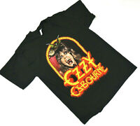 AAA Mens L Ozzy Osbourne Graphic Print Short Sleeve Black T Shirt Band Tee