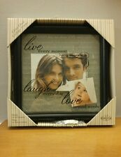 New View Glass Float Collage Picture Frame Live Laugh Love NEW