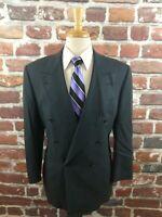 Canali Milano Men's D/B Blue Gray Herringbone Suit Jacket Blazer Sport Coat 38 R