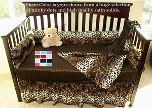 Leopard Print Baby Bedding Safari Style Leopard Crib Bedding Set