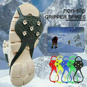 Universal Non-Slip Gripper Spikes Over Shoe Durable Good Elasticity Cleats US